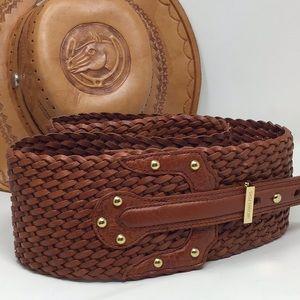 Micheal Kors Wide Leather Belt